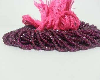 Natural Hyderabadi Garnet Faceted Rondelle Beads, Pink Garnet Beads, Garnet Faceted Beads, Natural Garnet Beads, Garnet Rondelle Beads