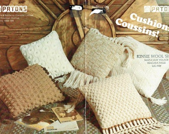 Patons Beehive Book 422 - Patterns to Knit or Crochet Cushions