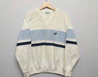 Vintage Yonex V neck Sweatshirt Size M