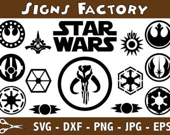 Star Wars svg, SVG Files, svg files for cricut, svg designs, cricut downloads, vector, clipart, DFX, EPS, Jpg