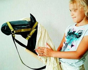 Horse lover gift etsy horse crazy gift rockin horse stick horse easter horse gift easter gift hobby horse ride on negle Gallery