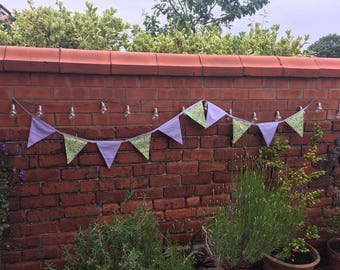 Lilac and green bird bunting