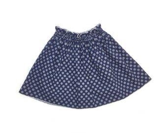 Summer Rock girl skirt cotton skirt marine
