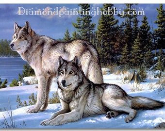 Wolves diamond painting, 3d painting, hobby for kids and adults, diy kits, Free shipping! 3D Embroidery set Cross Stitch