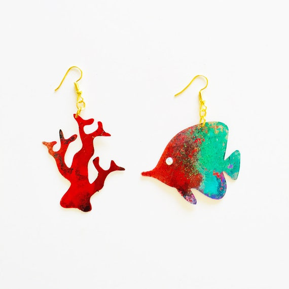 Dori earrings - Fish earrings - Sea jewellery - Tropical jewelry - Trending jewelry - Fashion earrings - Corals earrings - Gift for her