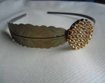 Bronze colored metal headband