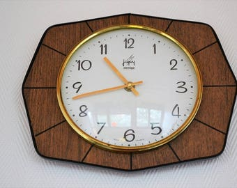 Clock Japy formica vintage 1960 s