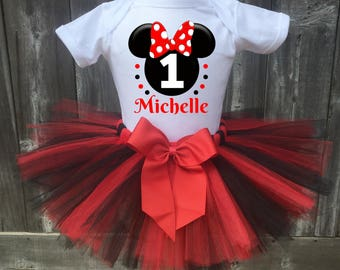 Minne Mouse Birthday Outfit, Minnie Mouse First Birthday Outfit, Minnie Mouse1st, 2nd, 3rd, 4th, 5th Birthday Outfit, Minnie Mouse  Tutu