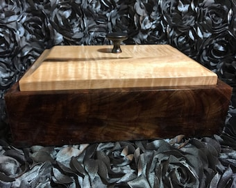 Figured Walnut and Tiger Maple Box
