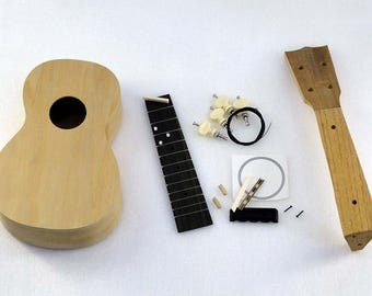 Solo Pro Ukulele DIY Kit, Basswood Body, Rosewood