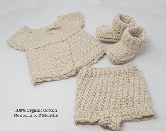 100% Organic Cotton Newborn Heirloom Layette Set