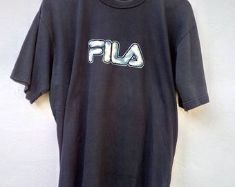 Vintage Fila Big Logo Spell Out Shirts