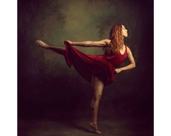 Fine Art Photography 16x20 Print Dancer In Red One