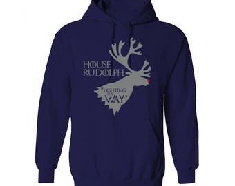 Game of Thrones House Rudolph Lighting the Way HouseStark Motto Christmas Hoodie