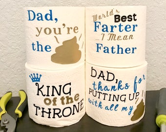 Funny Father's Day Gift, Father's Day Gag Gift, First Father's Day, Gifts for Dad, Father's Day Gift From Son, Funny Toilet Paper,