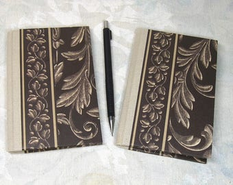 Two Slim small notebooks sketchbooks handmade stitched binding