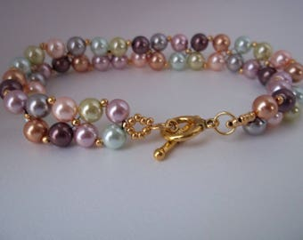 Colorful Pearl Bracelet