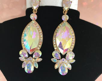 Auroura Austrian Crystal Dangle Earrings