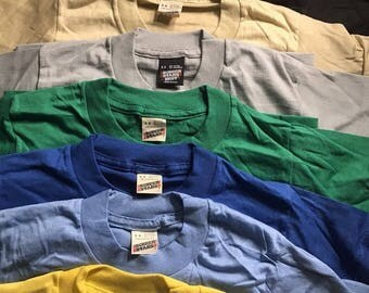 Lot of 100 Vintage Screen Stars youth SHIRTS // 50/50 blend paper thin // blank deadstock t-shirt // youth small 6-8 10 color lot