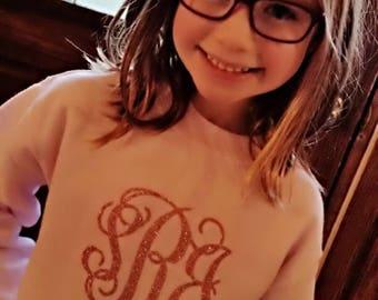 Girls Monogram Sweatshirt/Updated COLORS!!