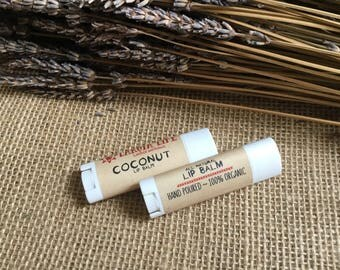100% organic lip balm in tube