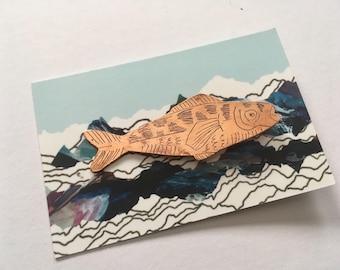 Copper fish pin #2