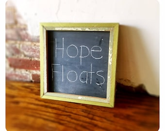 "Chalkboard 12""x12"", reclaimed 100+ year old shabby chic frame"