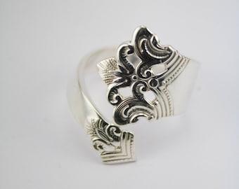 "Handmade Norwegian Silverspoon Ring ""Anitra"""