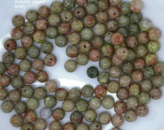 autumn jasper beads, autumn jasper, jasper beads, autumn jasper gemstone, stone to calm mind, spiritual stone, spiritual gemstone