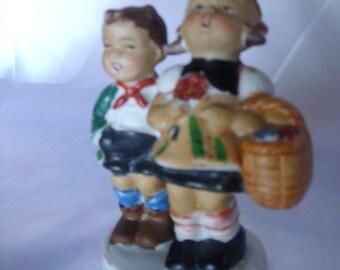 Occupied Japan Figurine, Girl and Boy