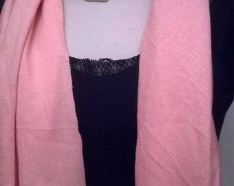 Pink spandex and cotton scarf