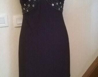 Mid long dress in black