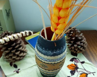 Vase, Vintage Art Pottery Vase, Handmade vase, Ceramic Bulgarian vase, Vintage Vase, Old vase, Home decor