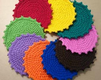 Crochet Sun Coasters