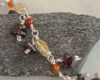 Multi-stone Charm Bracelet/Anklet: Summer Sunrise