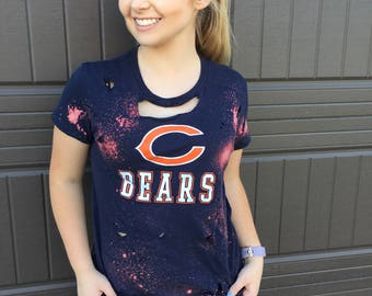 Chicago Bears Distressed Bleached Shirt