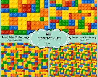 Lego Pattern Printed Vinyl/Siser HTV/ Oracal/ Indoor Vinyl/ Outdoor Vinyl/ Heat Transfer Vinyl- 037