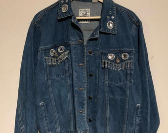 Hand Embellished Vintage Denim Jacket