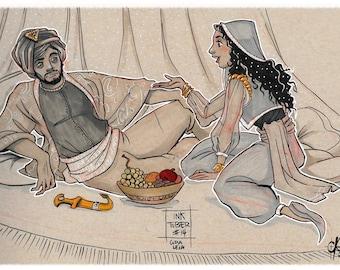 INKTOBER - Arabian Nights / the 1001 nights