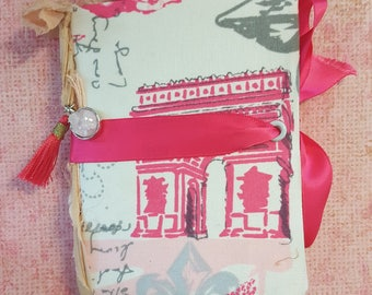 junk journal, small pocket journal, notebook, diary