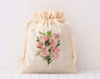 custom drawstring bag cotton bag with logo print personalized wedding favor bags gift pouches jewelry packaging bag beige party bags