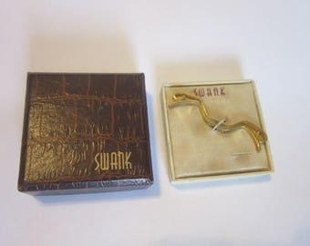 Antique Designer Swank Tie Bar in Original Box