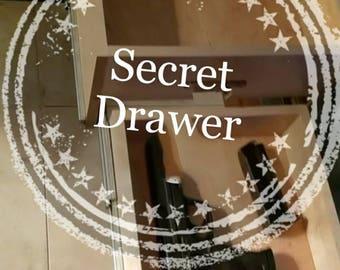 Secret Drawer - Gun Safe - Gun Storage - Hidden Valuables - Hidden Drawer - Night Stand Storage - Coffee Table Storage -  Sofa Table Storage