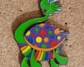 Trippy Turtle Pin