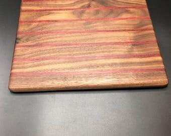 wood cutting board.