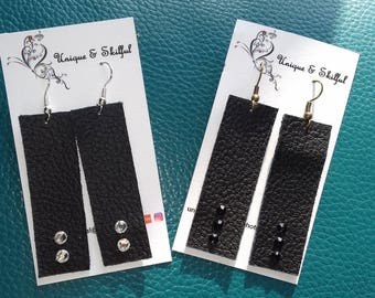 Drop leather earrings - various colours