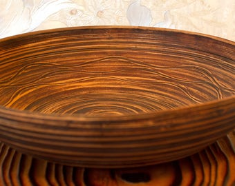 Plate of clay handmade