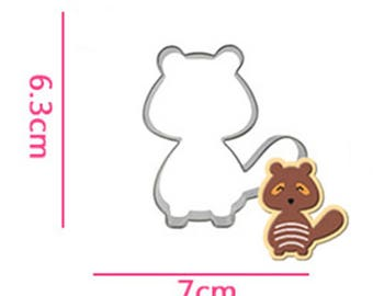 Raccoon Cookie Cutter- Fondant Biscuit Mold - Pastry Baking Tool Set