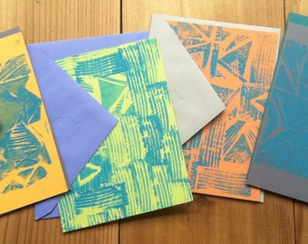 assorted hand printed cards