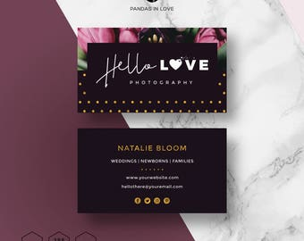 Business Card Template Etsy - Template of business card